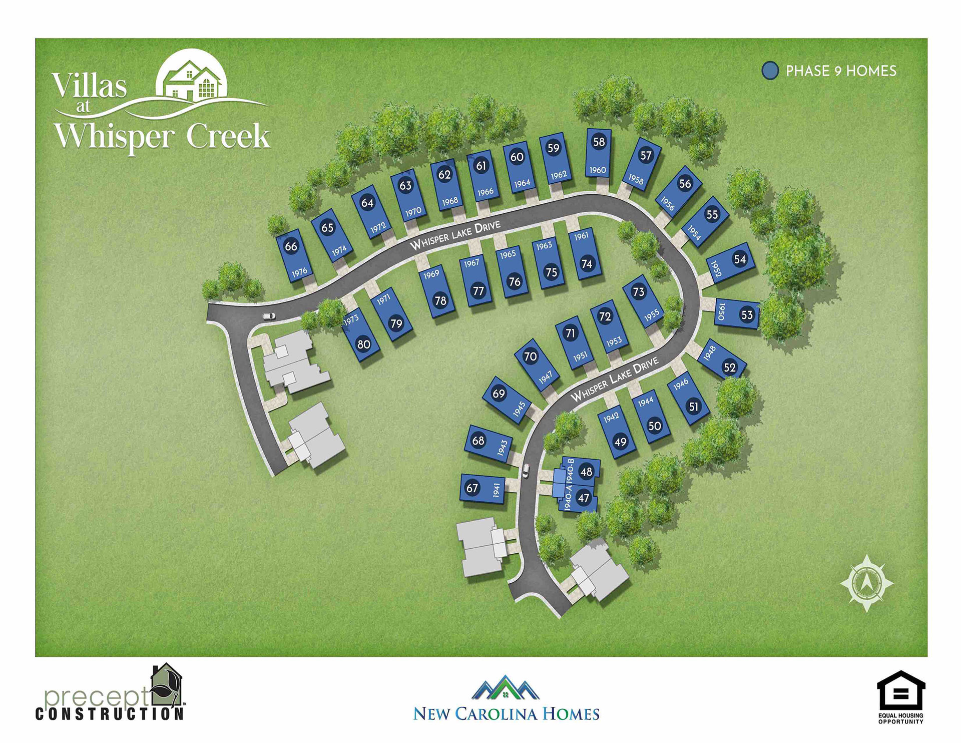 Site Map of The Villas at Whisper Creek